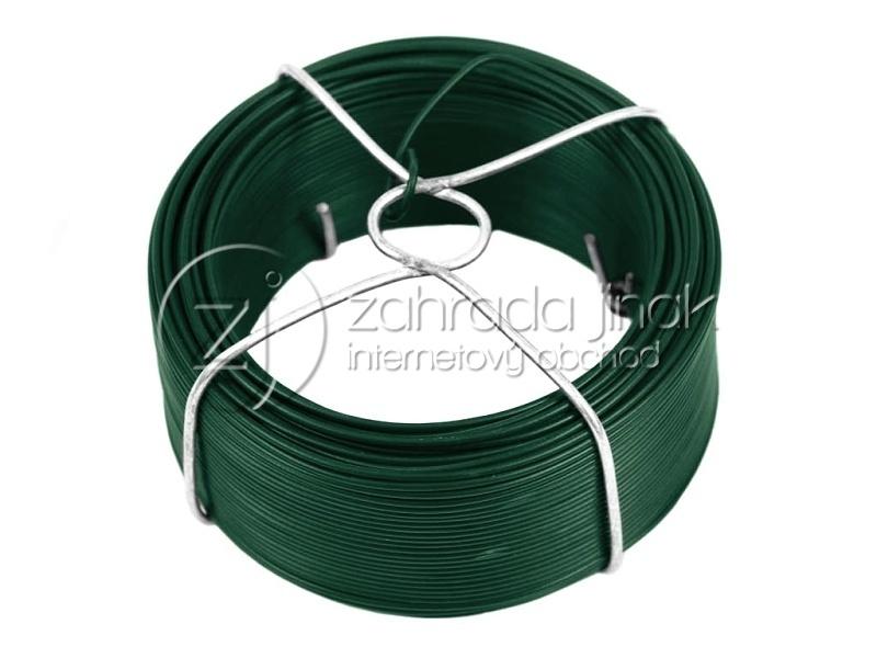 Vázací drát PVC 25m - zelený