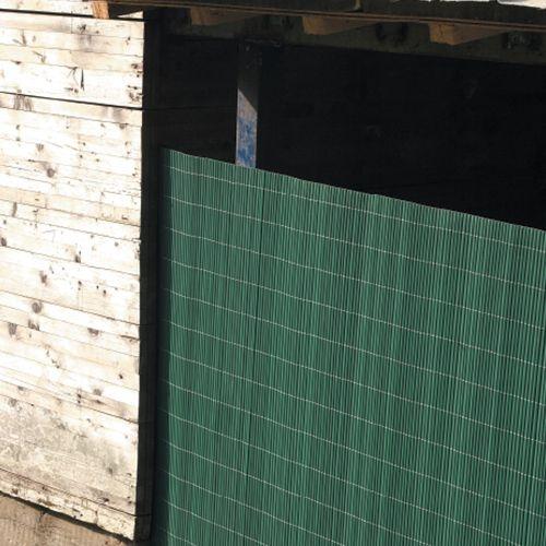 Bambusová rohož zelená NILO PLUS, výška 1,0 m (Zelená bambusová stínící rohož)
