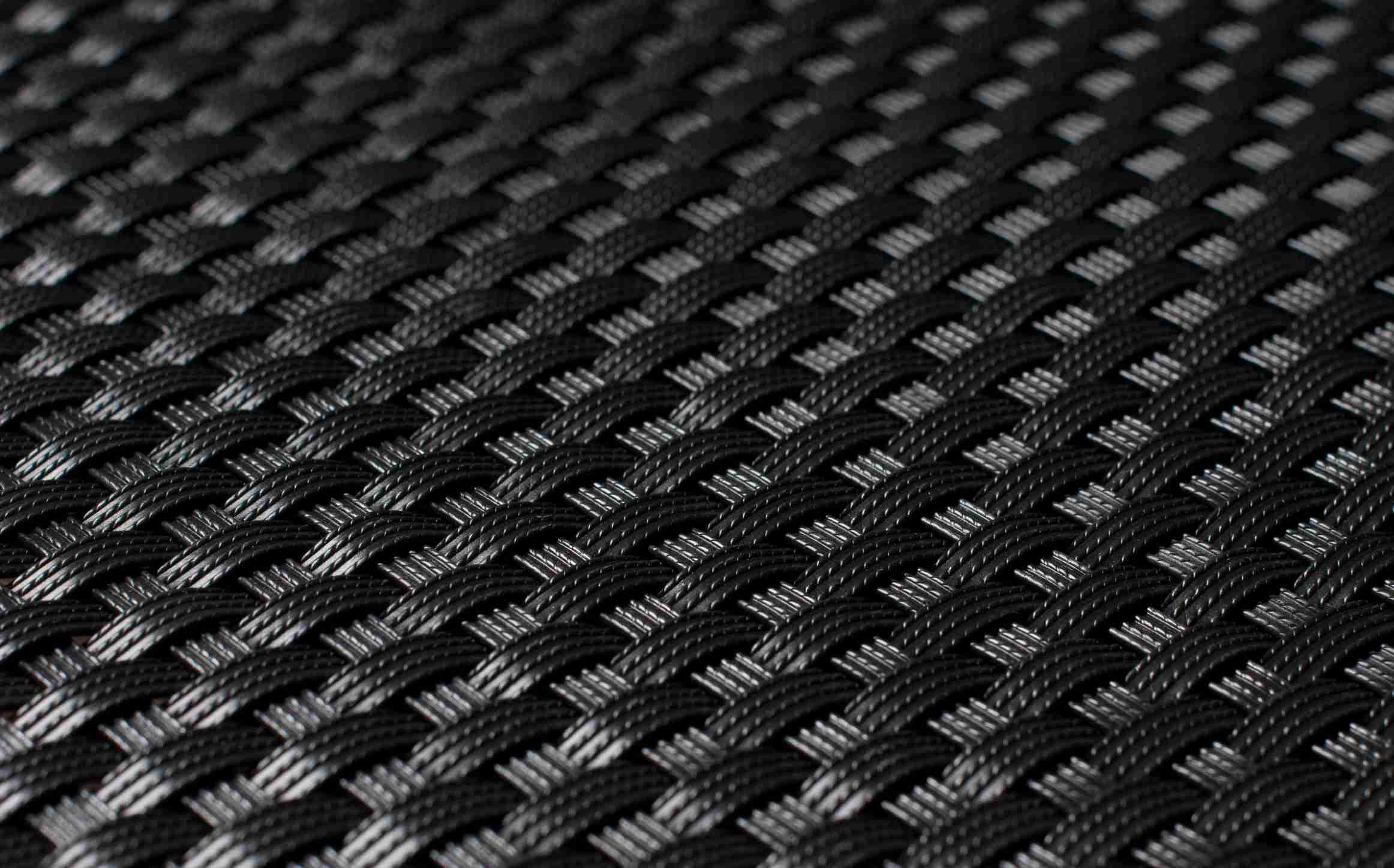 Umělý ratan - černá, výška 1m