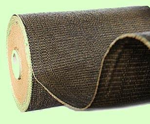 Hnědá školkařská textilie 100g, 162cm , metráž