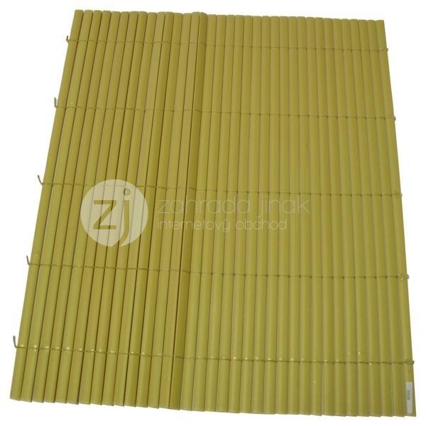 Bambusová rohož - BAMBOO MAT - Y, výška 1,2 m (Okrová bambusová stínící rohož)